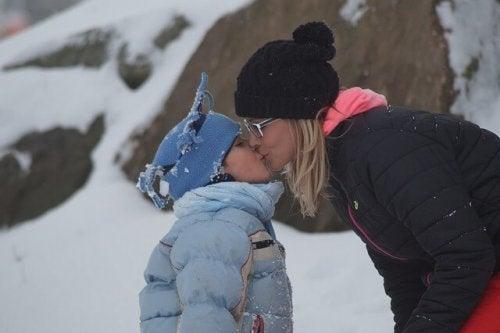 Co robić z córką - sporty zimowe