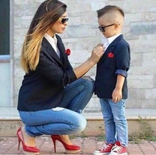 Matka szykuje syna