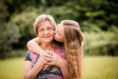 Babcia ze strony ojca i wnuczka