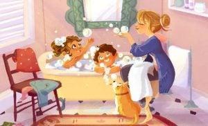 Dzieci w wannie