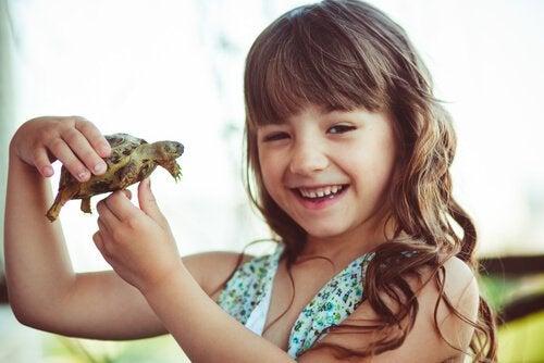 Dziewczynka i żółw