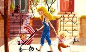 Samotne rodzicielstwo- mama z dziećmi