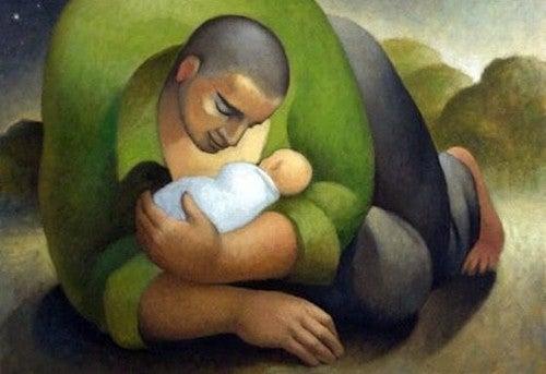 W przeszłości, teraźniejszości i przyszłości widzę tylko ciebie - tata z dzieckiem