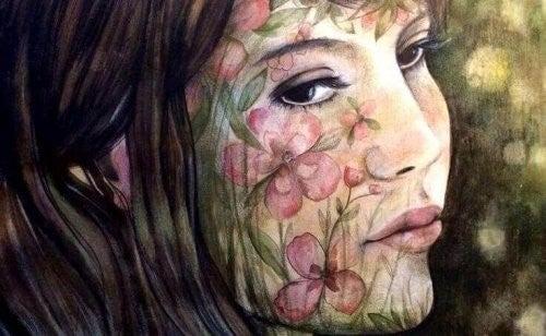 Samotność wypisana na twarzy kobiety, obraz