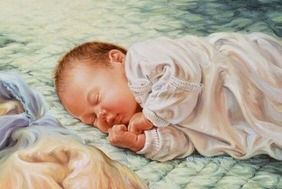 Śpiące niemowlę - pierwszych 40 dni życia