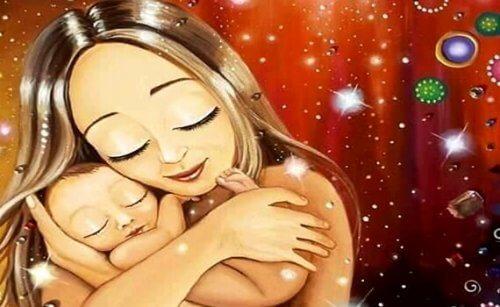 Trzymanie i przytulanie dziecka