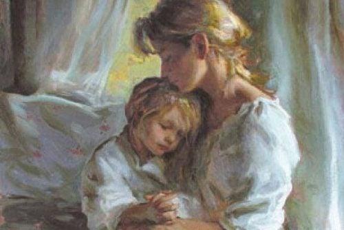 Przytulenie przed zaśnięciem