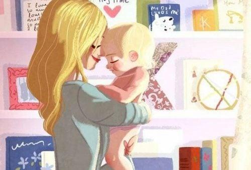 Czego chcę się nauczyć od Ciebie, mamo - szczęśliwa mama i dziecko