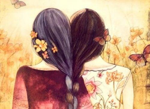 Dbanie o siebie - dwie kobiety z włosami splecionymi w jeden warkocz