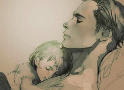 Mama śpi ze swoim dzieckiem