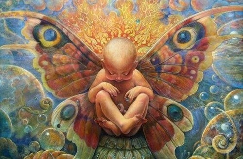 Dziecko motyl
