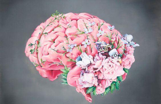 Mózg z wyrastającymi z niego kwiatami