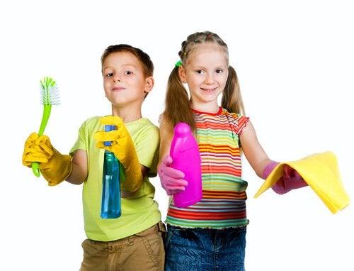 Przydzielenie dzieciom obowiązków domowych