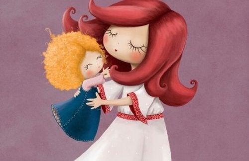 Matka tańcząca z dzieckiem