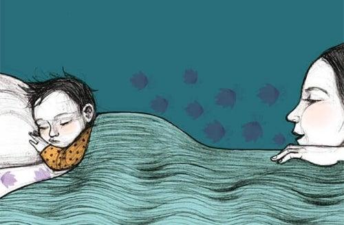 Wieczorem spędź z dzieckiem choć kilka minut czytając, rozmawiając lub po prostu siedząc przy jego łóżeczku.