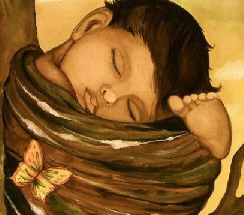 Patrzenie na śpiące dziecko to definicja szczęścia rodziców.