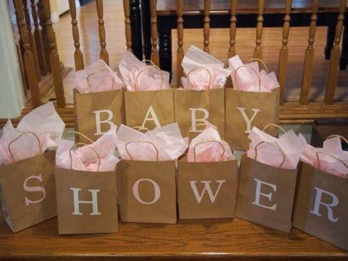 Torby z napisem baby shower