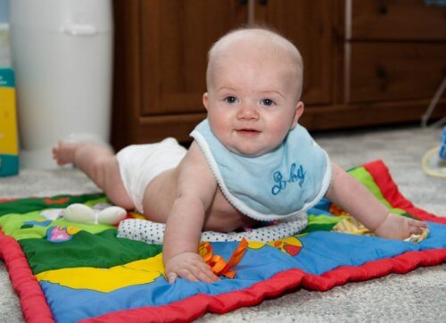 Mata edukacyjna z niemowlakiem