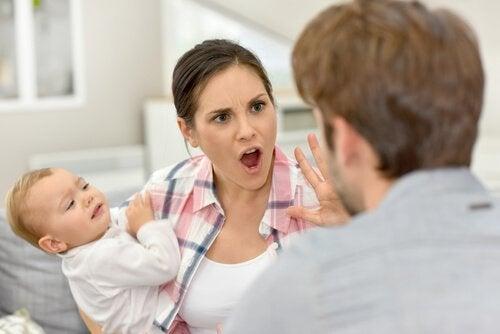 Małżeństwo podczas kłótni