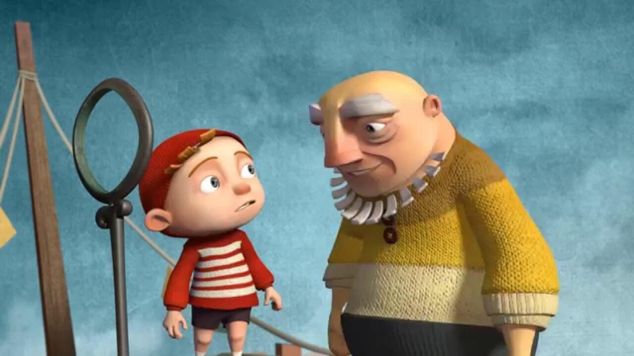 Dziadek i wnuczek na statku - niesamowita kreskówka