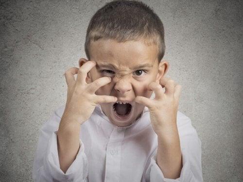 Chłopiec - złość