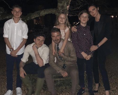 Beckham i jego duża rodzina