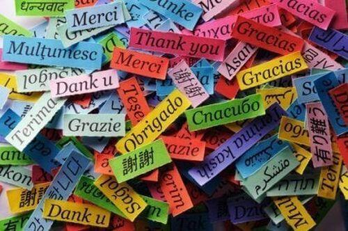 Słowo dziękuję w różnych językach