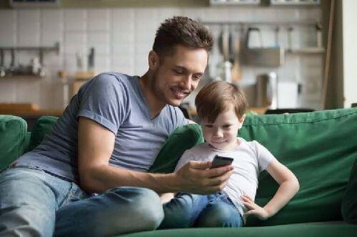 Dziecko z ojcem