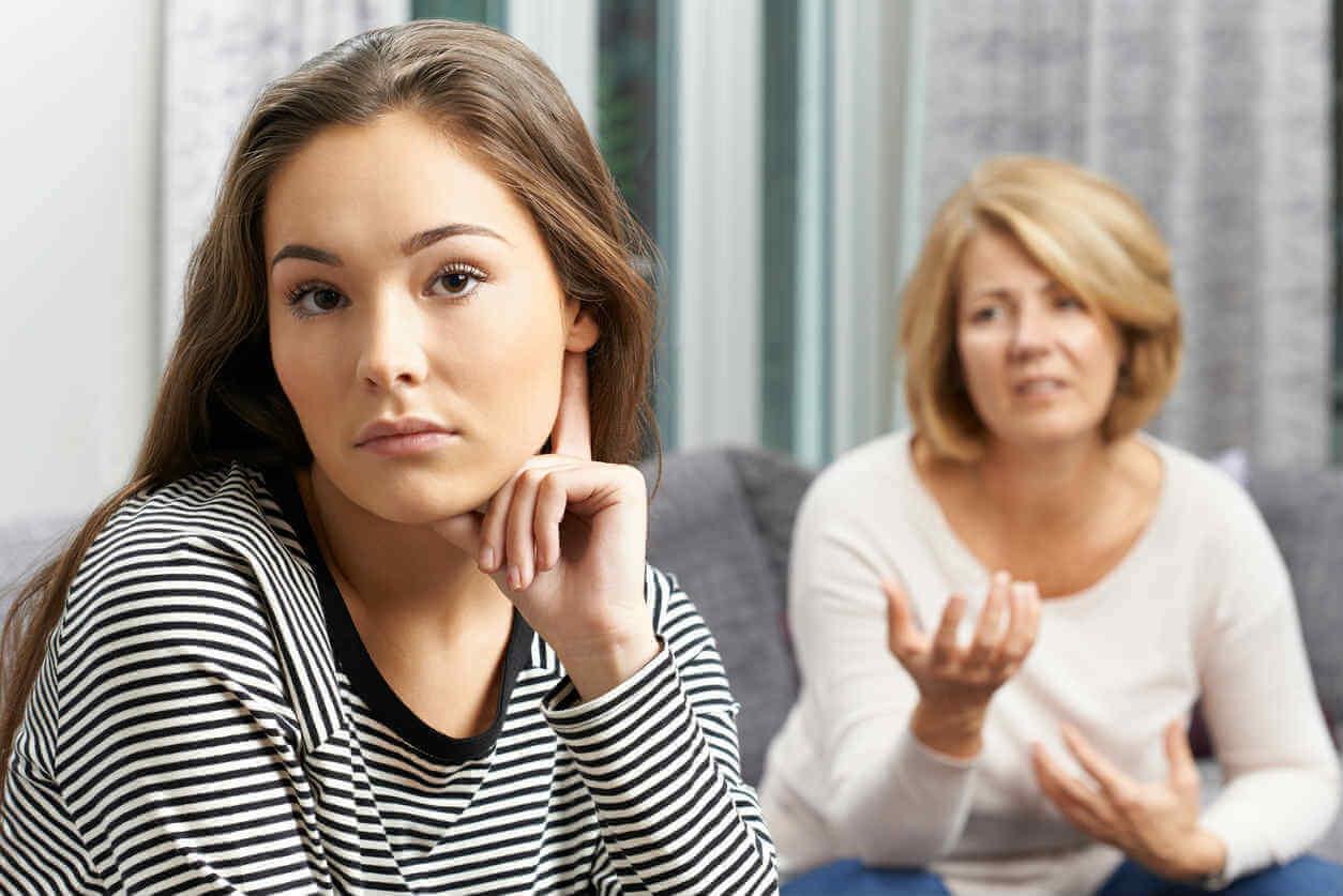 Obrażona nastolatka