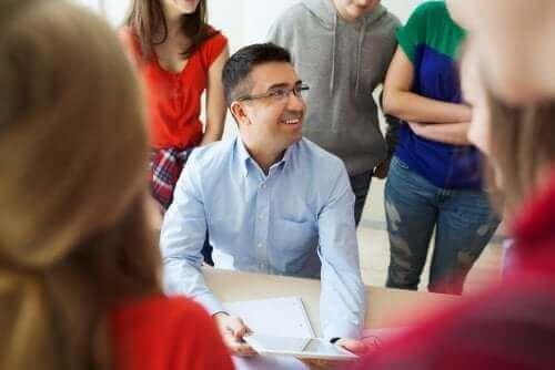 Nauczyciel w klasie