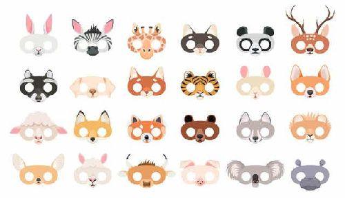 Maski - ręcznie wykonane zwierzątka