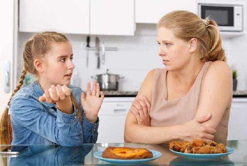 Dyskusja matki z córka