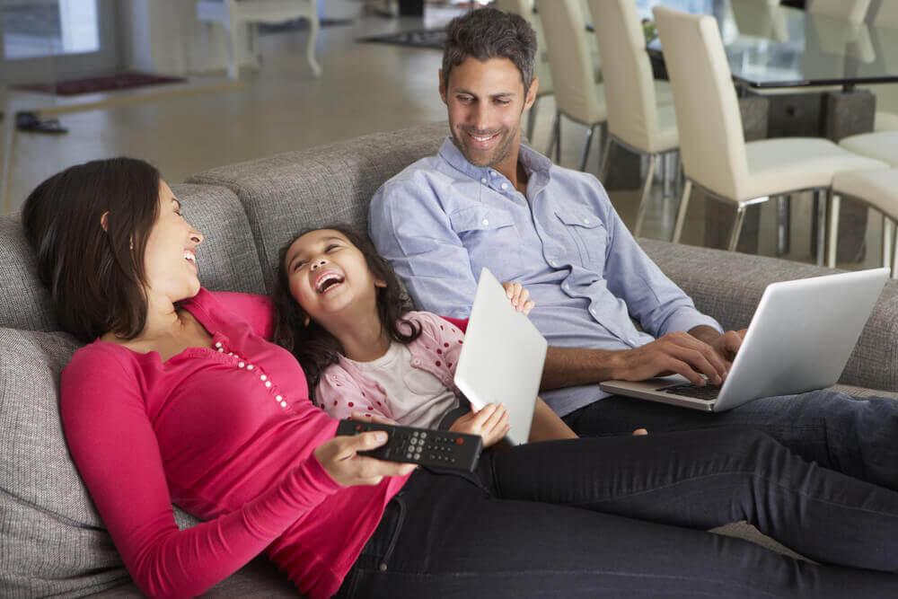 Czas wolny spędzony w domu z rodziną: nie rób nic!