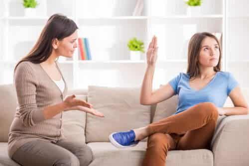 Rozmowa córki z matką